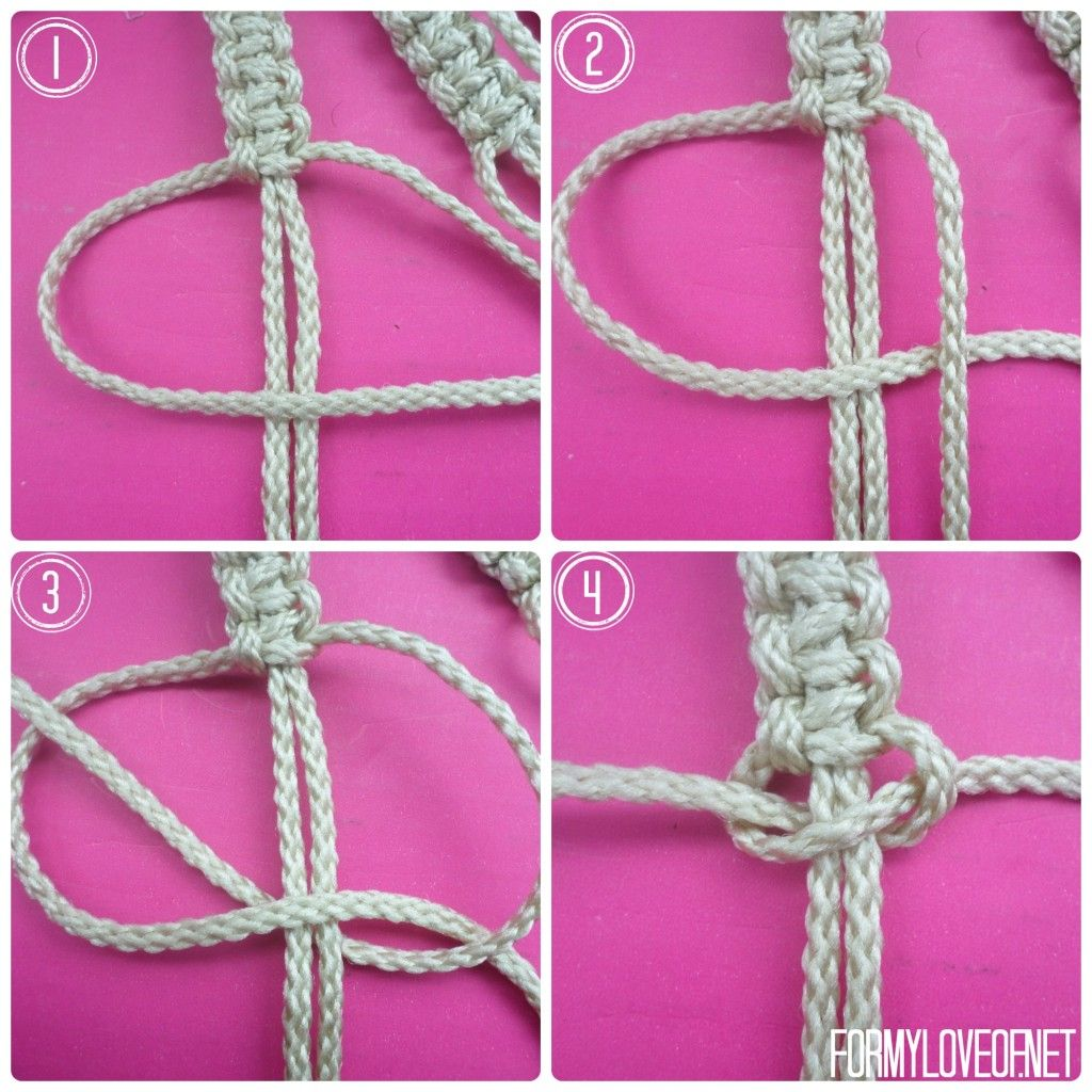 macrame step by step instructions