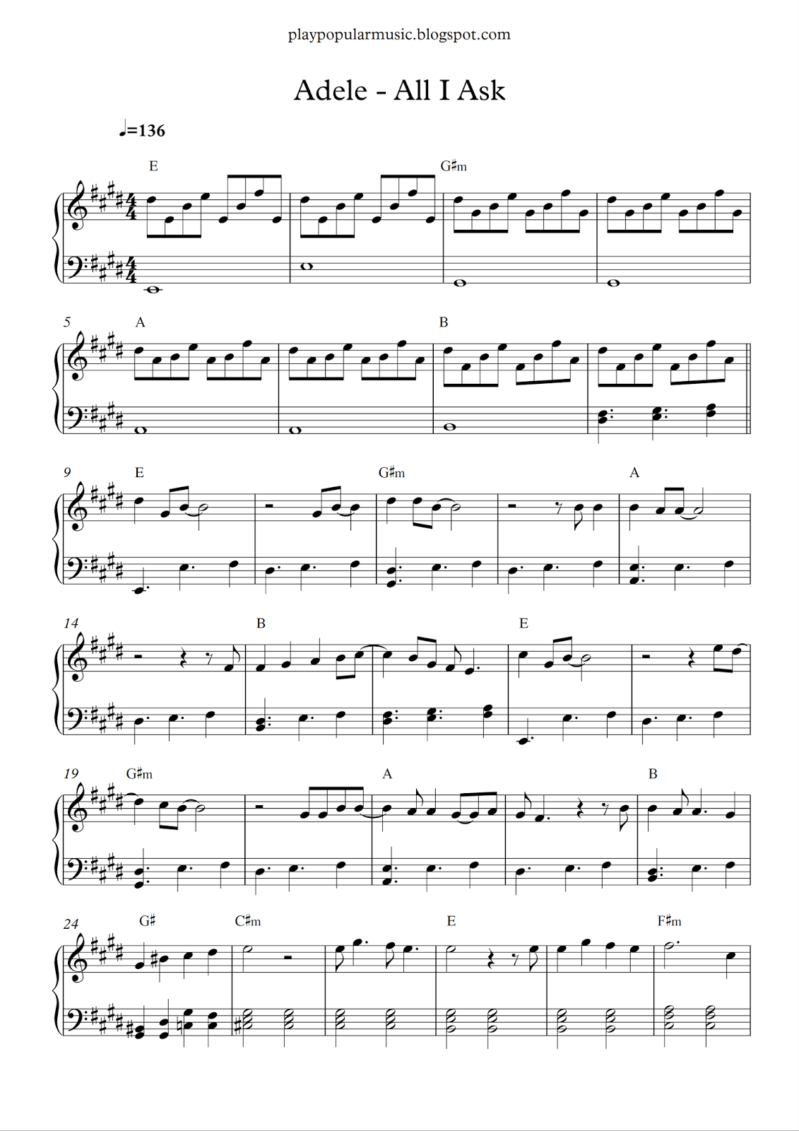 i don t need a roof sheet music pdf