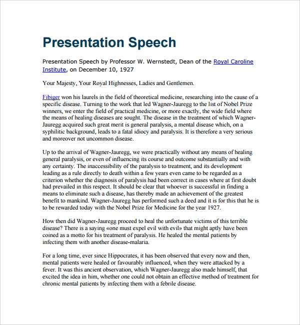 how to write a speech pdf