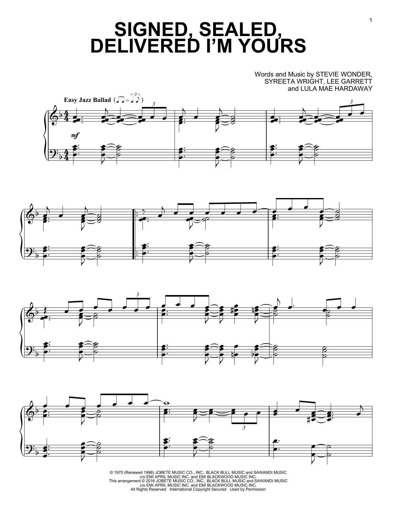 signed sealed delivered drum sheet music pdf free